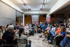 Treffen mit Basisgewerkschaften. Foto: Giovanni Lo Curto