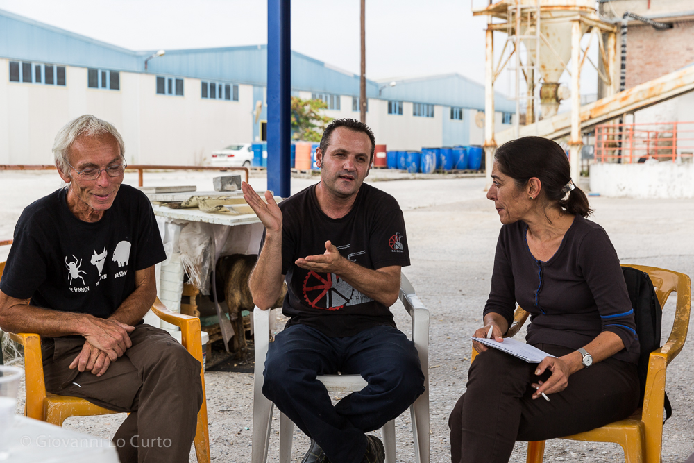 Diskussion bei Vio.Me Foto: Giovanni Lo Curto